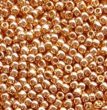 Toho 11/0 Seed Beads, Permanent Finish Galvanised Rose Gold PF551 - 10 grams